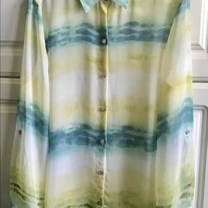 Chico's Summer Blouse Shirt Size2 (12).